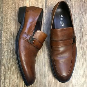 NEW Kenneth Cole Reaction Big News Cognac loafers